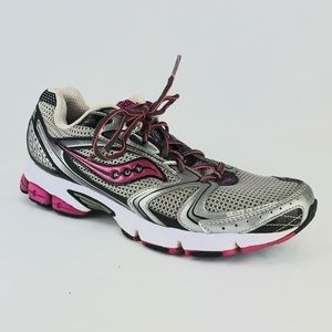 Say one Grid Stratos 5 Running Shoes Gray Pink